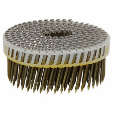 Airco Ring Shank Coil Nails SS 52x2.5mm 1800pcs Dome Head 15D Plastic Collated
