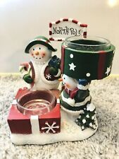 Yankee Candle Candle Holder Double Snowman 1207692 Christmas North Pole Tealight