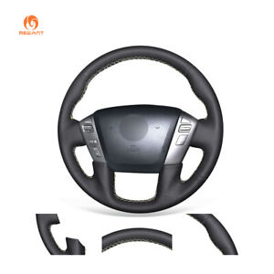 Black PU Leather Steering Wheel Cover for Nissan Armada Titan for Infiniti QX56