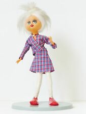 POUPEE PUNK INDEPENDEN SUR SOCLE 37 cm ANNEES 60/ 70 VINTAGE 60's 70's PUNK DOLL