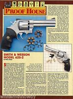 1989 SMITH & WESSON Model 625-2 Revolver 2-page Evaluation Article