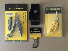 Leatherman Skeletool KBx832444 Combo Blue+Sheath+Extender+ Carabiner Cap Lifter