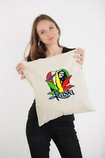 Bob Marley rasta hat up reggae dope weed logo Natural Shoulder Shopping Tote Bag