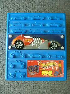 Vintage 1997 Mattel HOT WHEELS Rolling Storage Case Holds 100 Cars Tara Toys
