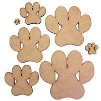 Paw Print Craft Shape, Various Sizes, 2mm MDF. Animal, pet, paws