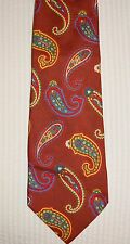 Paisley Burgundy Silk Tie ETRO Vintage Milan Italy