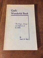 God's Wonderful Book By Frank M Boyd