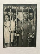 1940's Photograph of Tourist in Fake Jail -- Port Townsend