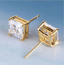 Design White sapphire stud earring 18k gold filed fashionable party STUD earring