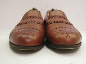 Men's Edward Green for Paul Stuart Brown English Loafers Size 10 UK, 10.5 USA