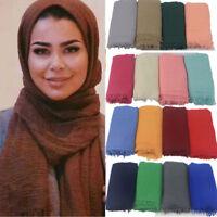 Femmes Musulmane Hijab Wrap Châles Fille Maxi Echarpes Foulard Head Wrap Cadeau