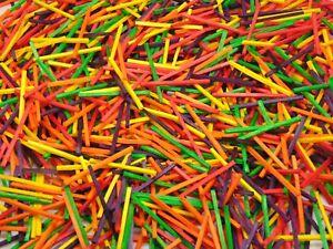 1000 Pcs - Colour Wooden Matchsticks Model Arts Craft Match Splints Art UK