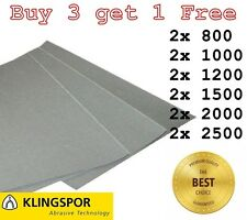 WET AND DRY PAPER 800, 1000, 1200, 1500, 2000, 2500 GRIT 2 OF EACH SANDPAPER