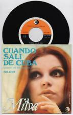 "MILVA - CUANDO SALI DE CUBA  45 giri 7"" ricordi SRL 10501 1968 IT"