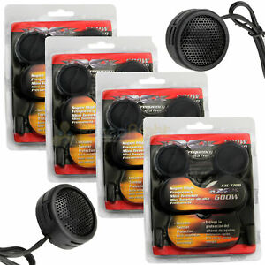 Super High Frequency Mini Car Dome Tweeters 600W With Built-In Crossovers 4 Pack