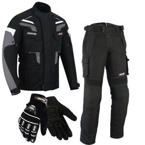 Motorrad Jacke & hose Herren Kombi Textil Schwarz Grau Neu Motorrad kombi
