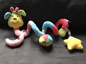 TJM Snugz Spiral soft plush pram toy. Moon Star. Multi colour. Baby
