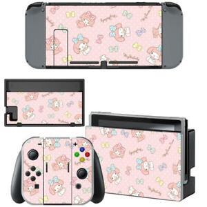 Kawaii My Melody Cute Nintendo Switch Joy-Con Dock Vinyl Skin Decals Stickers