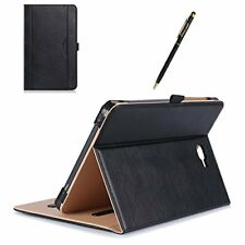 Samsung Galaxy Tab A 10.1 Case Tablet SM-T580 SM-T585 Cover Folio Leather Black