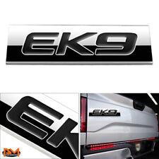 """""""EK9""""Polished Metal 3D Decal Black Emblem Exterior Sticker For 96-00 Honda Civic"""