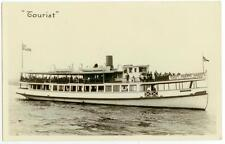 """c1920s Battery Park Sight Seeing Yacht """"Tourist"""" Real Photo"""