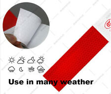 10pcs Truck Vehicle Trailer Reflective Safety Warning Stickers Red White Strip