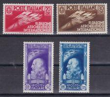 Italien 1935 mit Falz MiNr. 528-531  Int. Luftverkehrsausstellung, Mailand