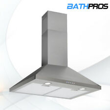 30 Range Hood Stainless Steel Wall Mounted Kitchen Stove Vent Mesh Filter 500CFM
