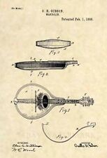 Official Gibson Mandolin US Patent Art Print-Vintage Antique Guitar Original 422