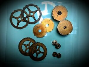 Assortment of Clock parts, Cogs & Gears for Steampunk, Cosplay & Clock Repair #1