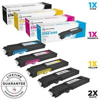 LD © 5pk Comp Toner for Dell C3760 C3765 331-8429 331-8432 331-8431 331-8430