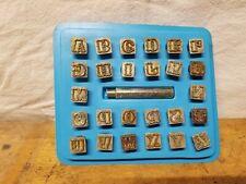 Vintage Leather Letter Stamps Alphabet Craftool?  Unused