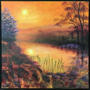 Contemporary English School Landscape Oil Painting. Signed.