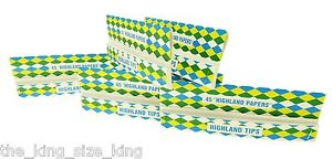 Highland Double Decadence Kingsize Rolling Papers With Tips x3 Booklets