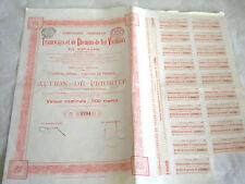 Vintage share certificate Stocks Bonds Tramways et de Chemins de fer Vicinaux 06