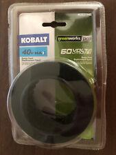 "Kobalt 40v MAX Greenworks Pro 60v Litium Max Trimmer Line Bump Feed Spool 0.08"""