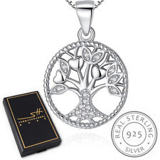 Lebensbaum Halskette 925 Sterling Silber Damen +Etui, Schmuckhandel Haak®
