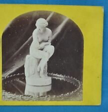 1860s Stereoview Photo Still Life Of Sculpture Statue The Bather