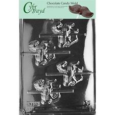 Cybrtrayd M072A Candy Making Molds Carousel-Horses Chocolate With Exclusive