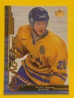 Henrik Sedin Rookie Card 1999-2000 Upper Deck (Young Guns)