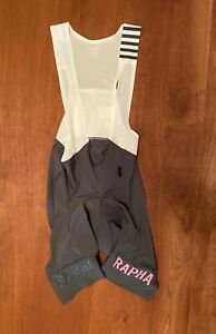Rapha Pro Team Bib Shorts II - Mens Medium Grey/Pink Regular M