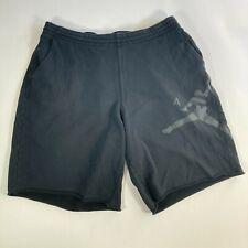 Jordan jogger shorts men's drawstring air jordan size 3XL black