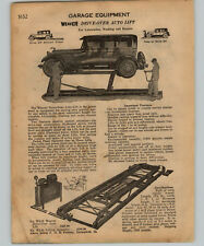 1934 PAPER AD 3 PG Weaver Car Auto Garage Service Station Lift Post Hoist Globe