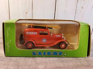Eligor 1932 Ford V8 Fire Truck Pompiers De Miami 1:43 Scale Diecast Panel Van