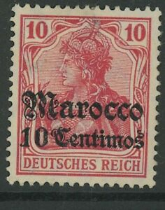 GERMAN OFFICES IN MOROCCO, MINT, #35 (6), LH/HR, 1 SHOWN, GREAT CENTERING