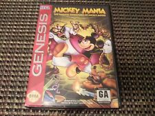 Mickey Mania (Sega Genesis/Mega Drive Game) Complete w/ Manual & Box Case