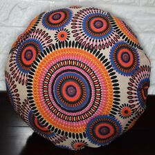 AF258n Nude Pink Dot Cotton Canvas Round Cushion Cover/Pillow Case Custom Size