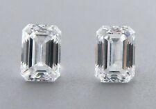 0.15ct MATCHING PAIR EMERALD CUT LOOSE NATURAL DIAMOND F VVS1