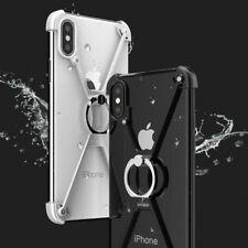Shockproof Aluminum Metal Frame Ring Holder Stand Bumper Cover Case For iPhone X