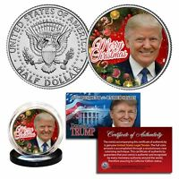 DONALD TRUMP Genuine XMAS Merry Christmas JFK Kennedy Half Dollar U.S. Coin